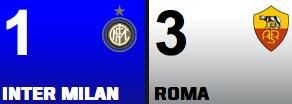 Inter Milan 1-3Roma