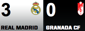 Real Madrid 3-0 Granada