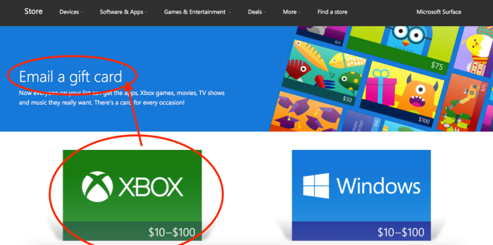 Be careful when purchasing Xbox gift cards—don't email—@xboxsupport